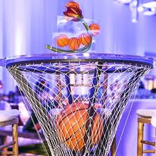 basketball centerpieces flowers sports botanical brouhaha