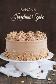 banana hazelnut cake garnish u0026 glaze
