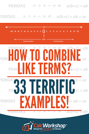 combining like terms worksheets greater than less than fractions