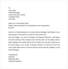 sample recommendation letter formats 15 download documents in