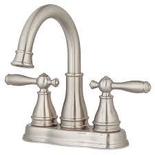 Brushed Nickel Bathroom Faucets by Shop Pfister Sonterra Brushed Nickel 2 Handle 4 In Centerset