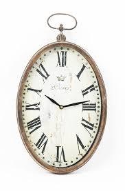 amazon com zentique paris oval wall clock home u0026 kitchen