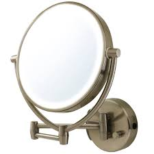 Wall Vanity Mirror Amazon Com Ovente Wall Mount Mirror Battery Or Usb Adapter