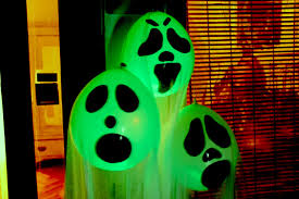 Glow In The Dark Home Decor Diy Halloween Ghost Glow Balloons Yard Decorations Indoor
