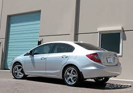 2012 honda civic tire size 2012 honda civic with 18 enkei ls 5 in chrome luxury sport