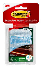 Christmas Rope Light Gutter Clips by Command Outdoor Rope Light Clips