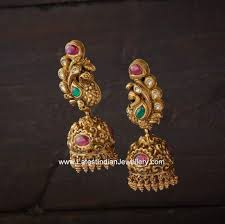 peacock design earrings 33 best jhumkas images on indian jewelry indian