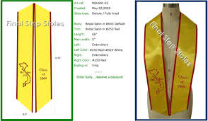 personalized graduation stoles exles of deluxe graduation sash types