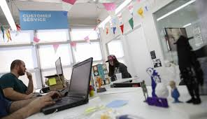why even engineers think working from home is a bad idea quartz people work at the customer service area inside the shapeways 3d printing office in the borough