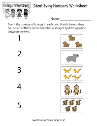 Math Worksheets Kindergarten Identifying Numbers Worksheet Free Kindergarten Math Worksheet