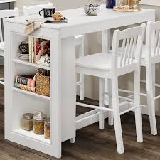 counter height table with storage jofran 816ec 48 tribeca counter height table w 3 storage shelves in