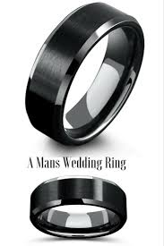 mens black wedding band does a black wedding band awesome wedding rings his and hers