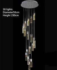 pendant lights 1 4 3 5m modern led stairwell chandeliers