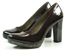 tamaris 1 22435 27 schuhe plateau lack pumps high heels