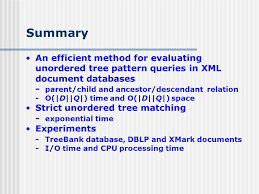 xml pattern space unordered tree matching and strict unordered tree matching the