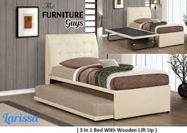 Bed With Pull Out Bed Larissa 3 In 1 Pull Out Bed The Furniture Guys