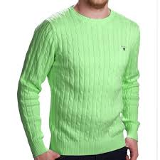 exclusive gant men green sweater cable knit garden gant 2016