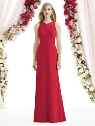 after six 6740 crepe trumpet bridesmaid gown novelty