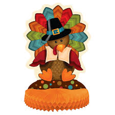 cute turkey thanksgiving table centerpiece decoration