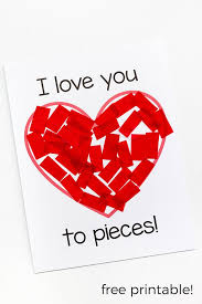 valentines kids i you to pieces s day craft activity
