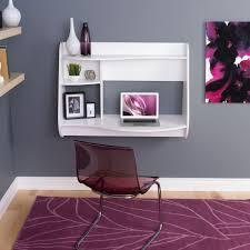 prepac kurv white desk with shelves
