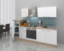 K Henzeile Komplett Respekta Einbau Küche Küchenzeile Küchenblock 270 Cm Eiche Natura