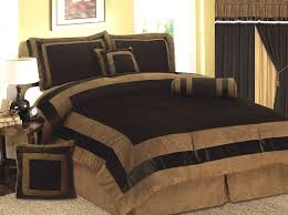 Microsuede Duvet Cover Queen Amazon Com New 7 Pcs Mocha Brown Micro Suede Bed In A Bag
