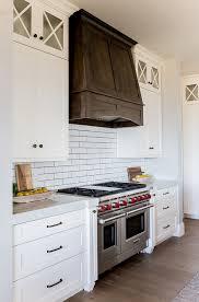 Sw Alabaster Kitchen Cabinets The Custom Alder Wood Hood Is Stained In A U201cdark Walnut U201d Color
