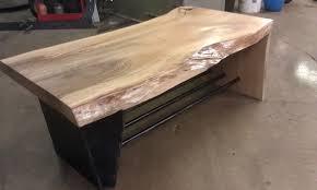 Waterfall Coffee Table Hand Made Steel And Wood Waterfall Coffee Table By Intuitive