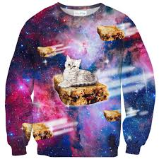 cat sweater pb j galaxy cat sweater shelfies