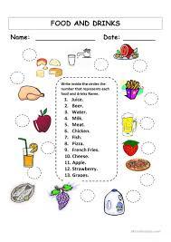 43 free esl food and drinks worksheets