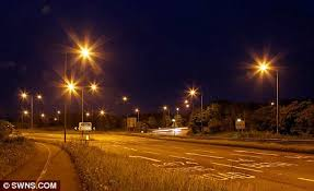 who to call when street lights are out council unveils uk s first led street lights daily mail online