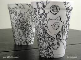 cool art on coffee cups 8