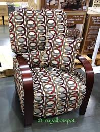 costco deal synergy home furnishings monica recliner synergy home wood arm recliner costco frugalhotspot furniture