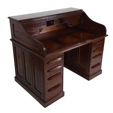 Arts And Crafts Writing Desk 19th Century Unusual Indian Arts And Crafts Teak Roll Top Desk At