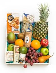 Basket Of Fruit Summer Gift Baskets Fresh Fruit Nuts Tropical Fruit Brimming With