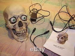 talking skull fright props animatronic skull halloween prop