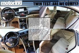 twin test 2013 honda accord vs 2012 vw passat motoring middle
