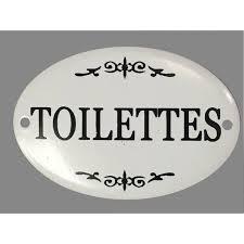 plaque de porte chambre plaque porte fer style émaillé toilettes décoration murale