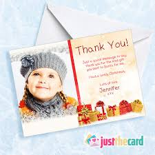 8 childrens photo christmas present personalised thank you cards