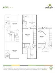 duplex plans with garage in middle bellevue station parkside builders