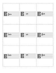 printable note cards pdf a set of flash cards for practicing notes in alto clef printable