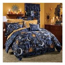 Starry Night Comforter Celestial Sun Moon Star Space 8pc King Comforter Sheet Polyvore