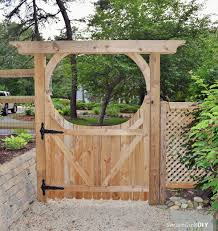 traditional backyard design with oriental style diy wooden gate
