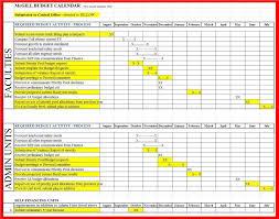yearly budget management timeline excel template v m d com