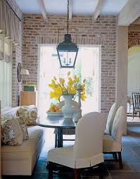 breakfast room michael smith s designs whitewashed brick bricks and exposed brick