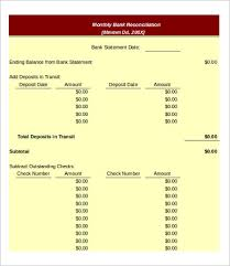Free Bank Statement Template Excel Bank Reconciliation Form Accounting Bank Reconciliation Template