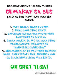 Funny In Love Quotes by Sumakay Sa Bus Oh Shet Tlga Quote In Colourful Fonts Bitter Quotes