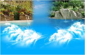 backyards charming rock waterfall slide with lazy river in