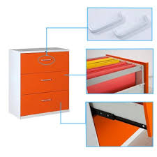 Orange Filing Cabinet Three Drawer Lateral File Cabinet Jeanter Cabinet